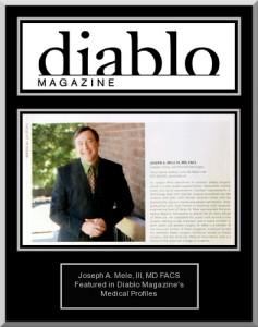 Dr. Mele Featured in Diablo Magazine