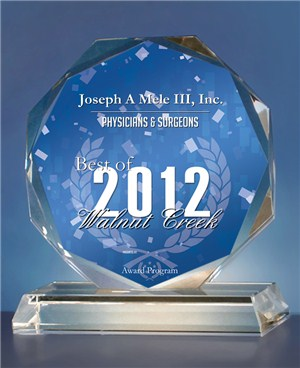 Best of Walnut Creek Award - Plastic Surgeon Joseph Mele, MD
