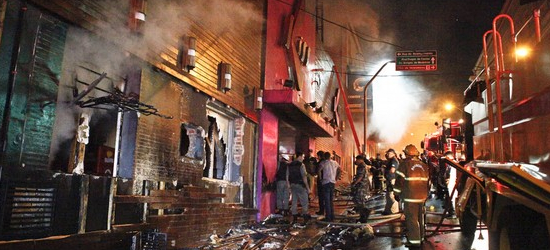 Kiss nightclub fire in Santa Maria, Brazil.