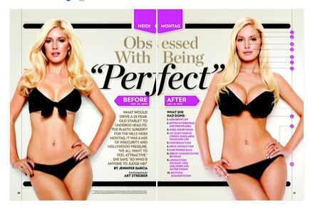 Heidi Montage as she appeared in January 25, 2010, issue of People Magazine
