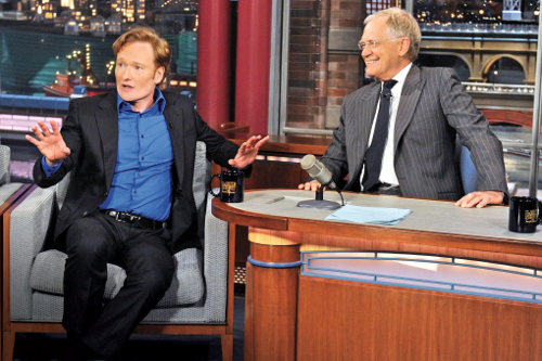 Conan O'Brien and David Letterman.