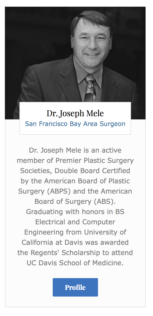 My profile is featured on the American Institute of Plastic Surgeon's home page. Click the blue profile box to visit the full profile on their site.