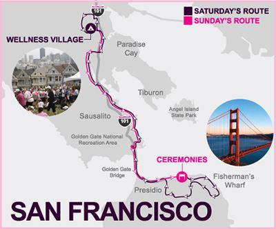 2014 Avon Walk for Breast Cancer: San Francisco Map