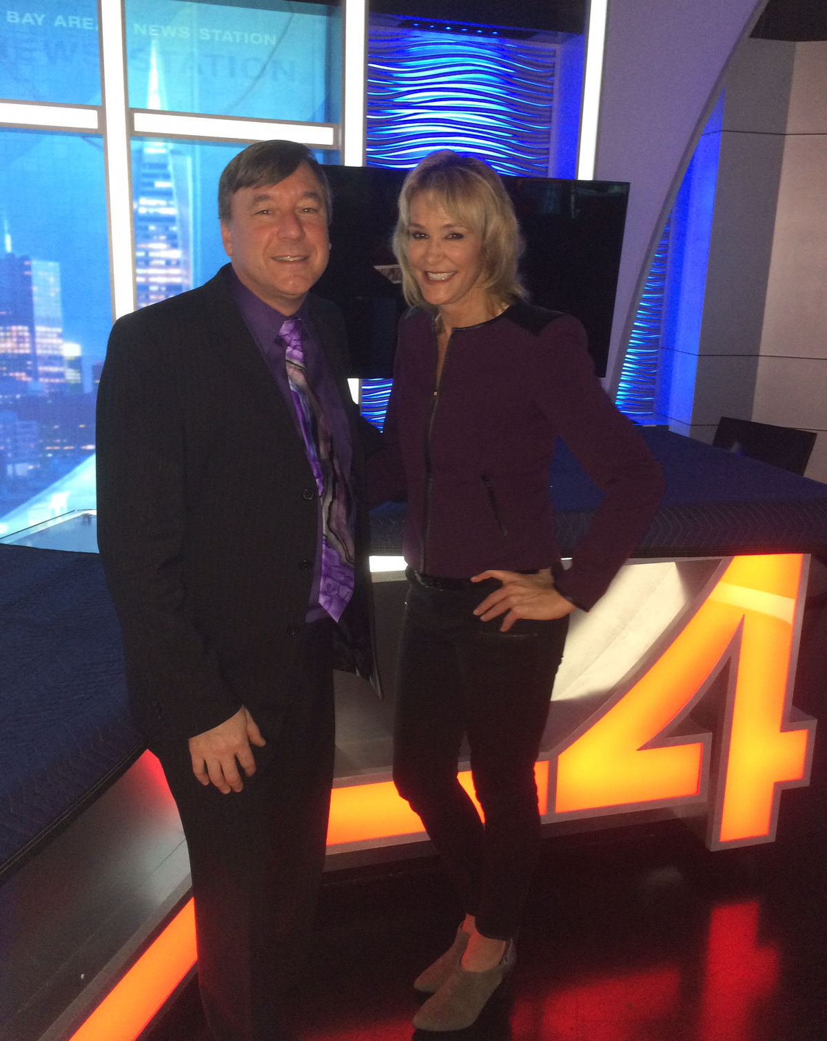 Dr. Mele and Body Beautiful host Janelle Marie in the KRON 4 Bay Area News studio.