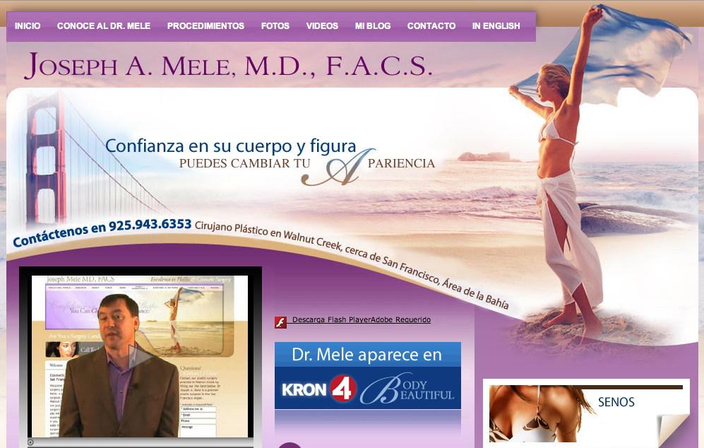 Cirugia Plastica San Francisco, Dr. Joseph Mele, MD, FACS, Cirujano Plastico