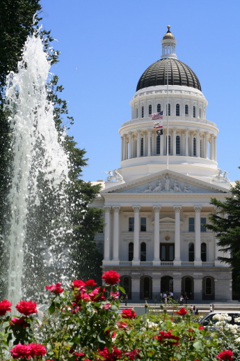 The California State Capitol - Sacramento California
