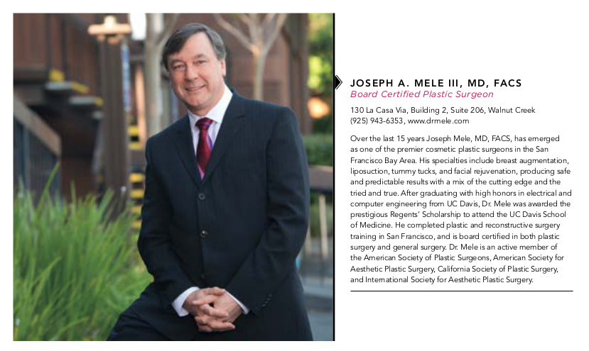 Dr. Mele's profile is featured in this month's Diablo Magazine Best of the East Bay edition