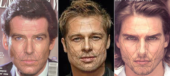The Golden Ratio Mask applies equally as well to the masculine face.