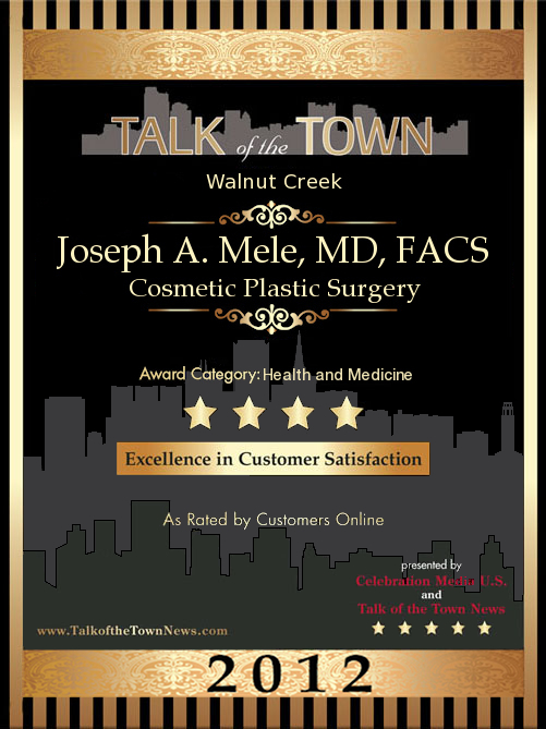 Cosmetic Plastic Surgeon, Dr. Joseph Mele, 2012 Talk of the Town Honoree