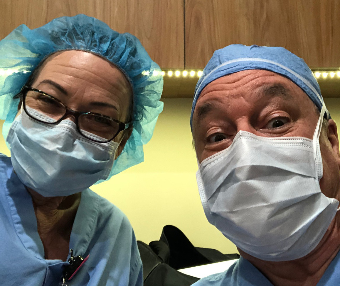 Mask use in the operating room