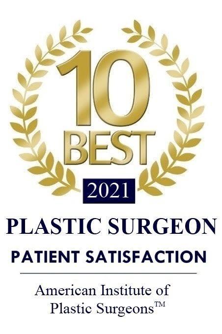 American Institute of Plastic Surgeons 10 Best Award for patient satisfaction