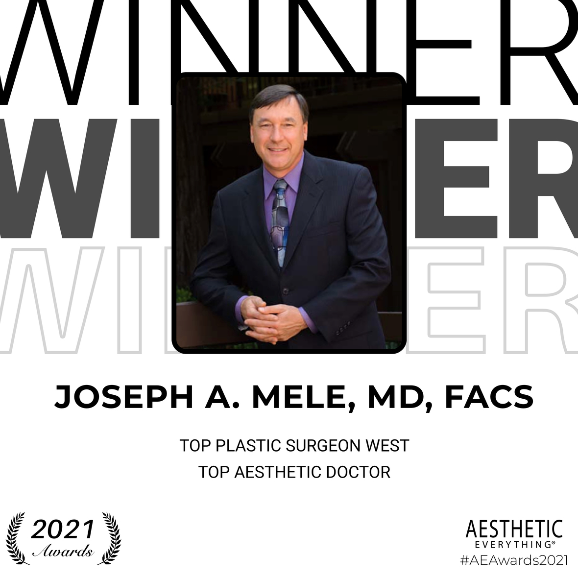 Top Plastic Surgeon West & Top Aesthetic Doctor Award - Dr. Mele